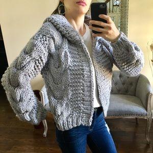 Sweaters - 🚨BUY 2 GET 1 FREE!🚨Gray Handmade Chunky Cardigan